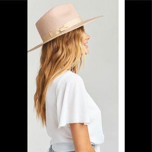 Lack of color Zulu Rancher 59cm sand Hat L Nwot